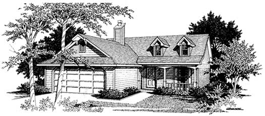 Farm Style Home Design Plan: 14-116
