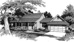 Farm Style Home Design Plan: 14-118