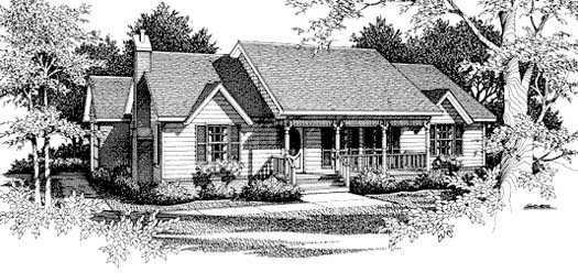 Country Style Floor Plans Plan: 14-119