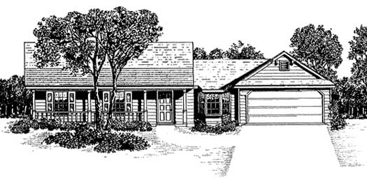 Country Style Floor Plans Plan: 14-120
