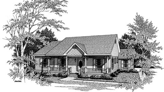 Southern Style Floor Plans Plan: 14-123