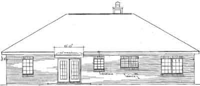 Rear Elevation Plan: 14-124