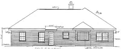 Rear Elevation Plan: 14-125
