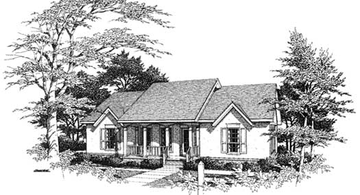 Southern Style House Plans Plan: 14-127