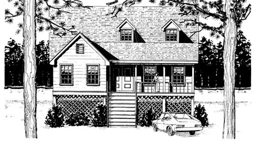 Southern Style Floor Plans Plan: 14-129