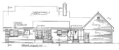 Rear Elevation Plan: 14-130