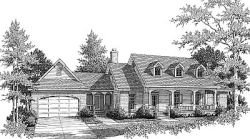 Southern Style Home Design Plan: 14-130