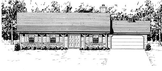 Ranch Style House Plans Plan: 14-131