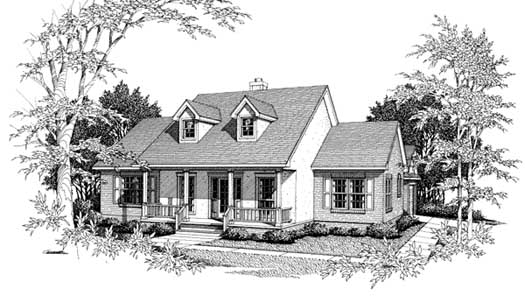 Country Style Home Design Plan: 14-133