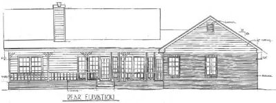 Rear Elevation Plan: 14-134