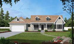 Farm Style Home Design Plan: 14-134