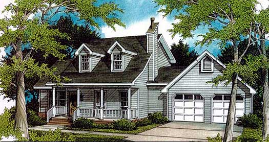 Country Style Floor Plans Plan: 14-135