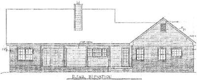 Rear Elevation Plan: 14-136
