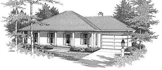 Southern Style House Plans Plan: 14-139
