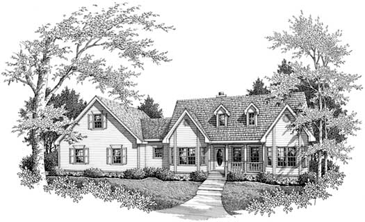 Southern Style Home Design Plan: 14-141