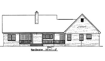 Rear Elevation Plan: 14-141
