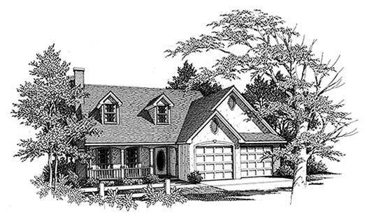 Southern Style Home Design Plan: 14-142