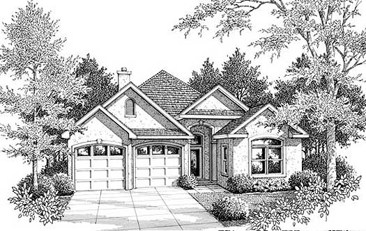 Southern Style Home Design Plan: 14-143