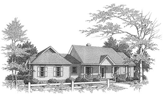 Southern Style House Plans Plan: 14-144