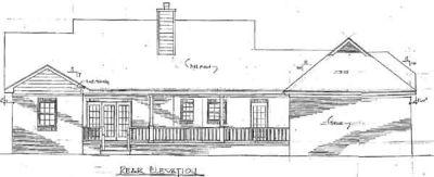 Rear Elevation Plan: 14-144