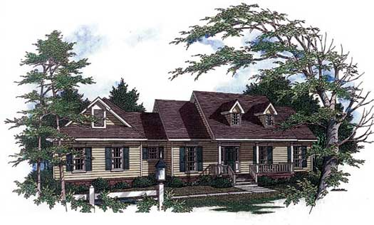 Country Style Home Design Plan: 14-145