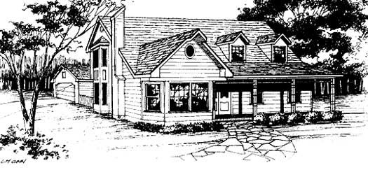 Country Style Floor Plans Plan: 14-148