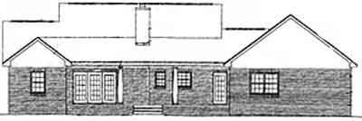 Rear Elevation Plan: 14-150