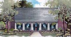 Southern Style Home Design Plan: 14-151