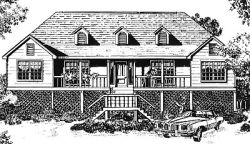 Southern Style Floor Plans Plan: 14-154