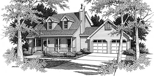 Country Style Floor Plans Plan: 14-155