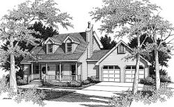 Country Style Home Design Plan: 14-155