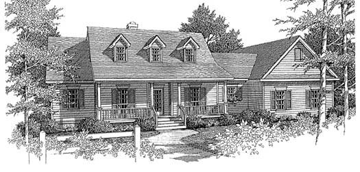 Country Style Home Design Plan: 14-156