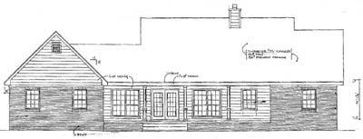 Rear Elevation Plan: 14-156