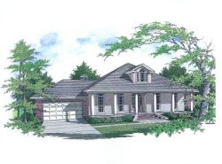 Southern Style Home Design Plan: 14-157