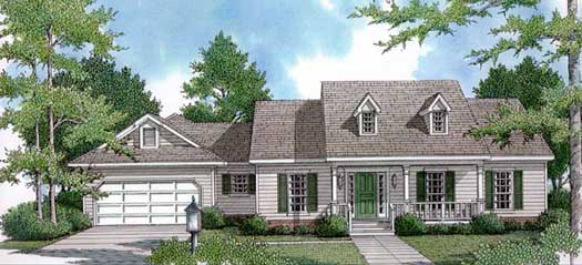 Country Style Home Design Plan: 14-160