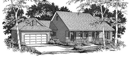 Country Style Home Design Plan: 14-161