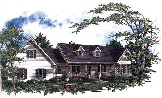 Country Style Floor Plans Plan: 14-162