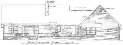 Rear Elevation Plan: 14-162