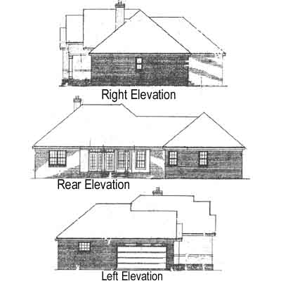 Rear Elevation Plan: 14-163