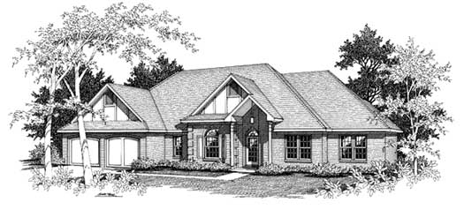 European Style House Plans Plan: 14-165