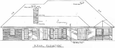 Rear Elevation Plan: 14-165
