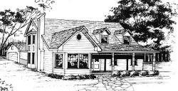 Country Style House Plans Plan: 14-166