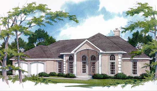 Mediterranean Style Floor Plans Plan: 14-168
