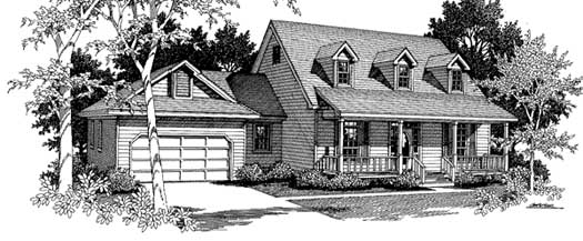 Country Style House Plans Plan: 14-169
