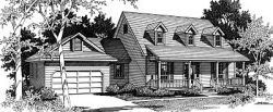 Country Style Floor Plans Plan: 14-169