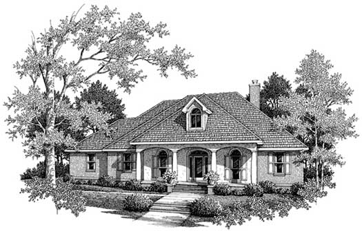 Southern Style Floor Plans Plan: 14-171