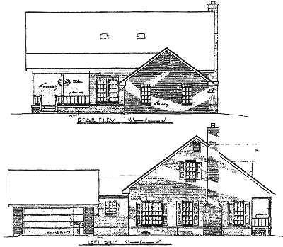 Rear Elevation Plan: 14-172
