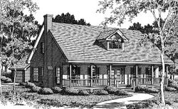 Country Style Floor Plans Plan: 14-172