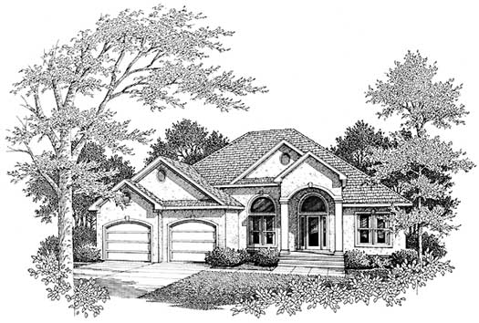 Mediterranean Style House Plans Plan: 14-175