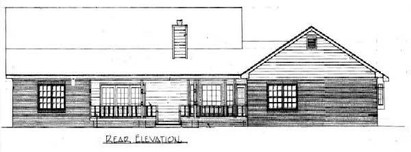 Rear Elevation Plan: 14-176